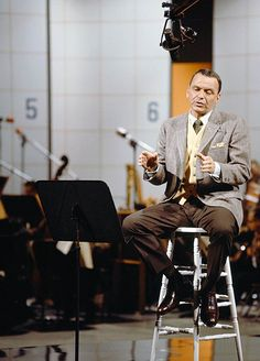 Frank Sinatra in music studio
