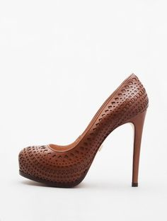 punched leather stilettos. yes please