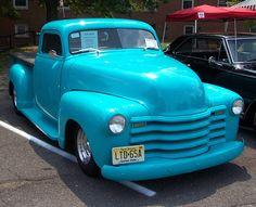 very very blue 1948 Chevy Pickup
