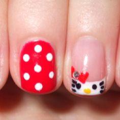 Hello Kitty Nails! :)