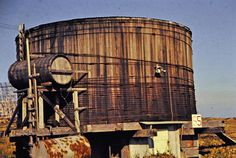 Old Wooden water tank, Shemya, Alaska