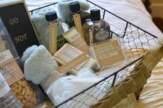 Guest Toiletry Basket. Someday I will be so organized...and have a guest room.