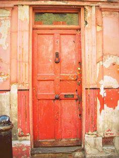 , red doors, the doors, colors, front doors, oranges, colorful doors, peaches, old doors, orange crush