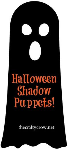 Free Printable Halloween Shadow Puppets by The Crafty Crow