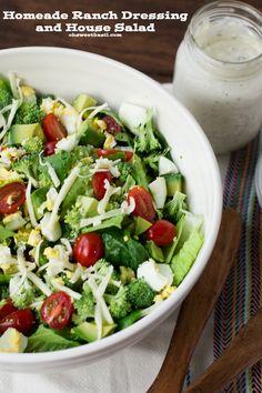 Homemade ranch dressing recipe and  Fresh Mixed Salad Recipe