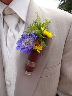 Boutonniere designed in a spent shotgun shell Boutonnieres Design, Someday, Shells Style, Shotgun Shell Boutonniere, Flowers Ideas, Overalls, Shotgun Shells, Shotguns Shells Boutonnieres, Ideas Shotguns