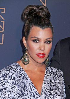 Kourtney Kardashian Loose Bun