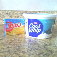 take one 12oz container of softened Cool Whip and mix in your favorite ...