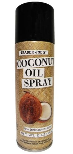 Trader Joe's Coconut Oil Spray!! Wonder how pure it is. No more tub of goopey coconut oil for a moisturizer!!!