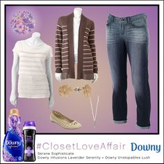 This Serene Sophisticate look was inspired by Downy Infusions Lavender Serenity and Downy Unstopables Lush. Feel naturally beautiful with the warming neutrals and blossoming studs that rest comfortably at your ear. To shop this look, visit the LC Lauren Conrad collection available only at Kohl's. To register for the #ClosetLoveAffair sweepstakes visit https://downy.promo.eprize.com/pinterest/.