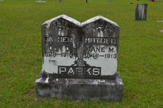 Tombstone Tuesday – John D. and Jane M. (Triggs) Parks #genealogy #familyhistory