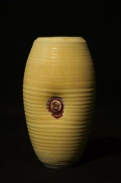 "Otto Heino ""Yellow Glaze"" vase 6.75""x3.75""  Otto Heino is known for rediscovering the lost Yellow glaze during his lifetime with wife potter Vivika"