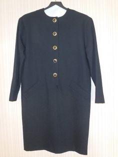 Evan Picone Black Dress in Light Weight Wool by FeistyFarmersWife, $40.00