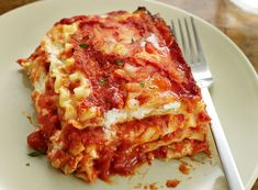 """Paul & Mira Sorvino's New Style Lasagna: """"Mira: My dad's a type-2 diabetic, and he used to not be in control of his blood sugar. One time he had a big bowl of pasta fagioli—pasta with beans, a Neapolitan delicacy—and his blood sugar got extremely high. He turned a different color and got very faint. That was a wake-up call for me: that I needed to help him stick to his treatment plan.     Paul: So she makes a salad as big as the Bronx! Cooking is a huge part of our lives, but now we do things differently, like this lasagna. """""""