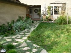 garden path, patio, walk, concret path