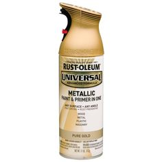 Rust-Oleum Universal 11 oz. All Surface Metallic Pure Gold Spray Paint and Primer in One-261399 at The Home Depot