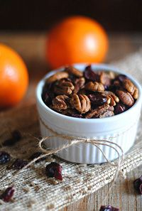 Perfect edible favor idea for fall weddings-maybe sugared pecans?