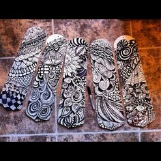 very cool use of zentangle on ceiling fan blades