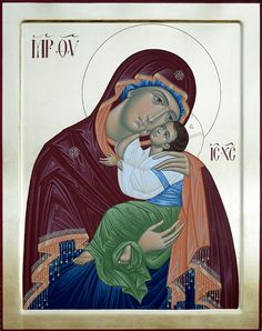 Beautiful icon of Our Lady with Christ by Rade Pavlovic #orthodox_icons #icons #iconography #art #christianity
