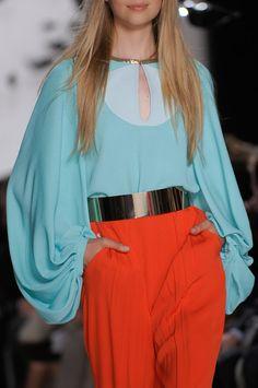 Diane von Furstenberg S/S 2013 - turquoise & red
