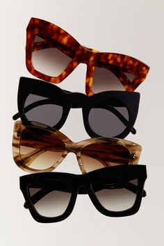 THE NEW SUNNIES. The modernized cat-eye shape gets straight to the point.  #thenewnew