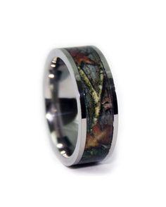 #1 Camo - Camo Wedding Ring - Flat Titanium  http://www.countryoutfitter.com/products/72014-camo-wedding-ring-flat-titanium?lhs=u_p_p_n_a&lhb=MP&lhc=mens_jewlery&lhg=1_camo_titanium_wedding_ring&utm_source=pinterest&utm_medium=social