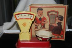 Vintage Toy Kitchen Scale in Box Made in Germany