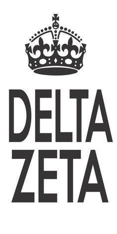 Delta Zeta Sorority Crown Vinyl