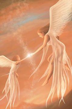 lights, wing, heaven, fairi, beauti, angel watch, angel art, helping hands, guardian angels
