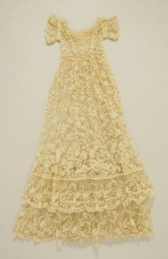 Fine lace christening gown vintage victorian