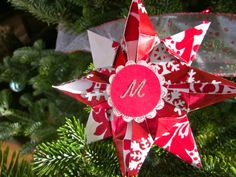 Origami Christmas Ornament out of Wrapping Paper
