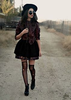.This Time I'm Not Leaving Without You. (by Kendall C.) http://lookbook.nu/look/2870605-This-Time-I-m-Not-Leaving-Without-You kendal kay, style muse, gothic glamour, 365 prolem, leather jackets, play dress