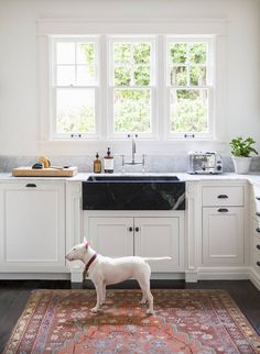 Black marble farm sink