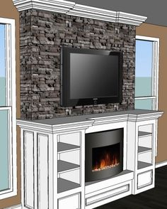 Fireplaces on pinterest fireplace mantels fireplace for Design your own fireplace