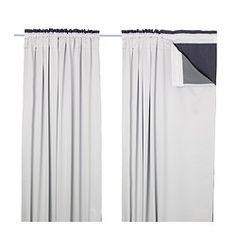 GLANSNÄVA Curtain liners, 1 pair - IKEA