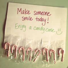 Sweet random act of kindness idea, maybe use other candy so it's not just for the holidays.