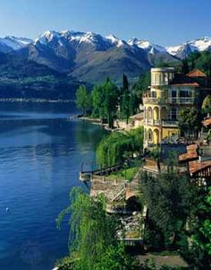 Lake Como, specifically Hotel Villa d'Este. Amazing!