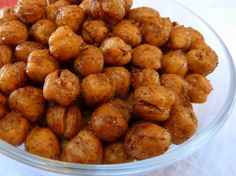 Warm and Spicy Roasted Chickpeas (use gluten free spices)