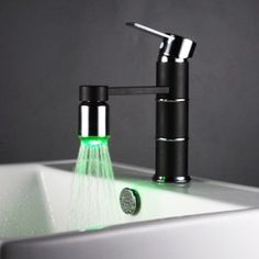 Color Changing LED Bathroom Sink Faucet - Chrome Finish    Item ID #00086740  $75
