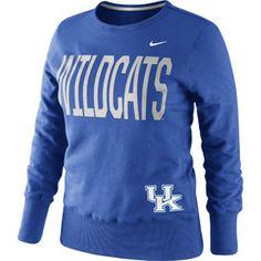 Nike Ladies Royal Wildcats Crewneck Sweatshirt