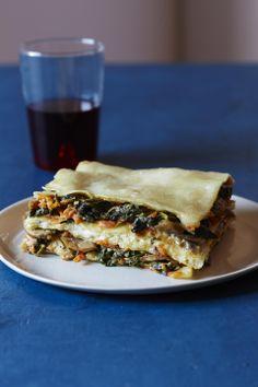 Slow Cooker Lasagna Primavera #slowcooker #vegetarian #easydinners