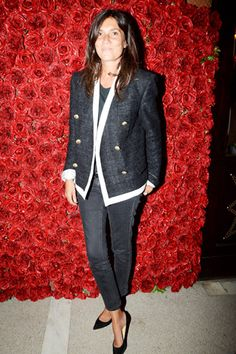Emmanuelle Alt wearing the AGNES pump at NYFW