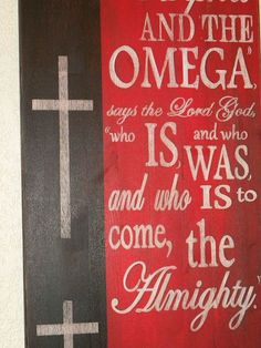 Hometalk :: How to Paint the Alpha Omega Sign by GranArt