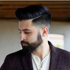 Men's hair #style #haircut men cut, men hair styles, long hairstyles, men's pompadour hair, hair cut, haircut styles, men fashion, beard, fashion barbershop