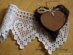 Edge hearts filet crochet diagram...