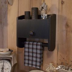 Primitive Bathroom Cabinet Towel Rack Toilet Paper Storage / Original Design / Color Choice. $45.00, via Etsy.