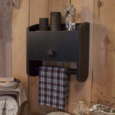 Primitive Bathroom Cabinet Towel Rack Toilet Paper Storage / Original Design / Color Choice. $45.00, via Etsy.