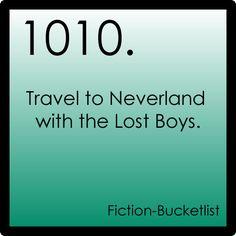 My Fiction Bucket List
