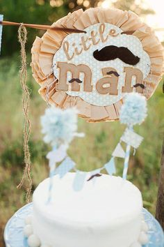 Mustache + Little Man Baby Shower via Kara's Party Ideas! Such a cute birthday party theme, too! www.KarasPartyIdeas.com