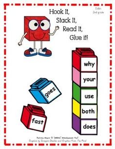 Hook It, Stack It, Read It, Glue It! Dolch 2nd Grade from MOORE Miscellaneous Fun! on TeachersNotebook.com -  (8 pages)  - Let your students have fun by HOOKING, STACKING, READING, and GLUING the Dolch 2nd Grade words.  Students build either a 5-cube or 8-cube tower depending upon how many words need extra review.